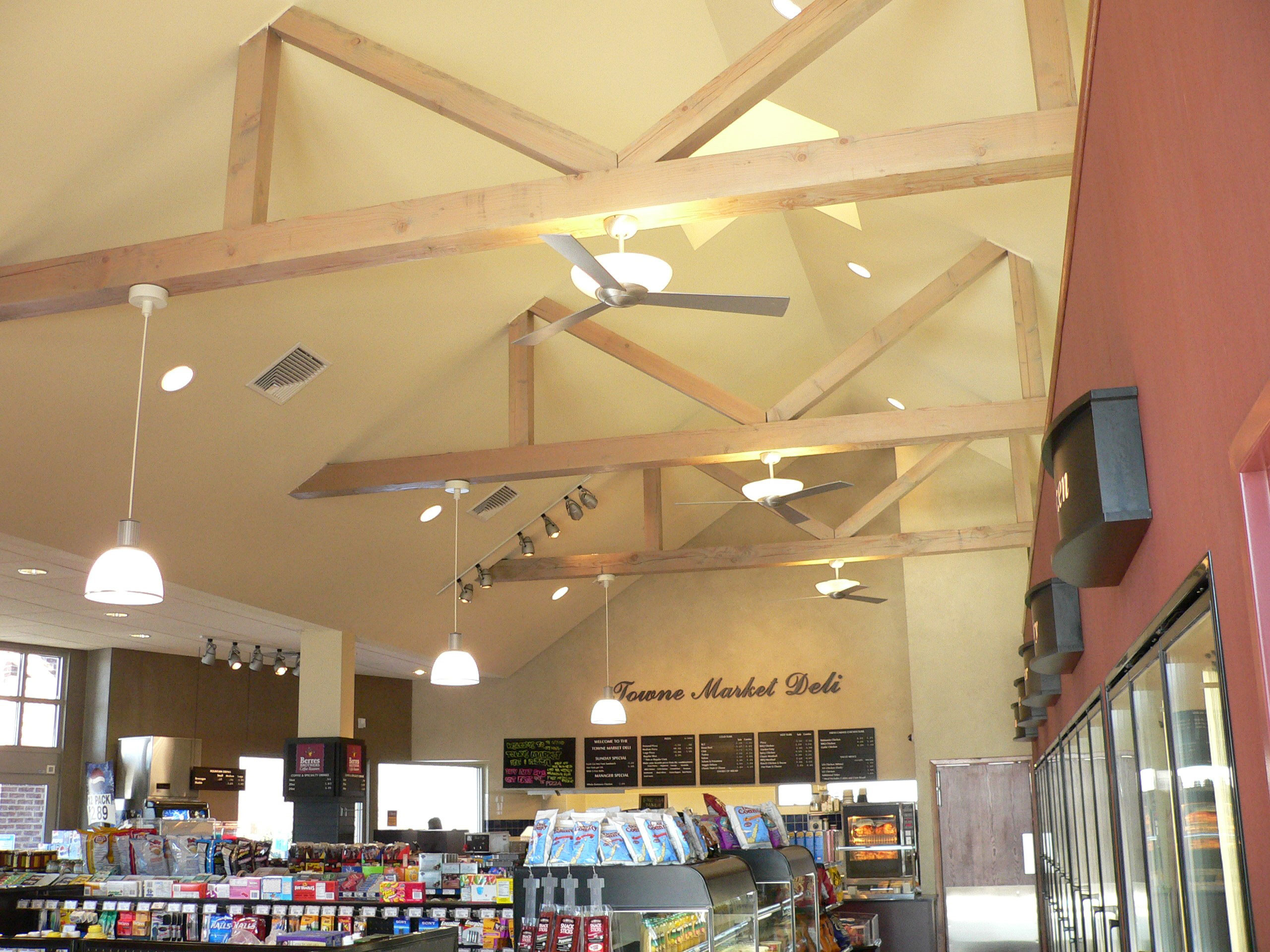Towne Market Mobil ceiling trusses north view
