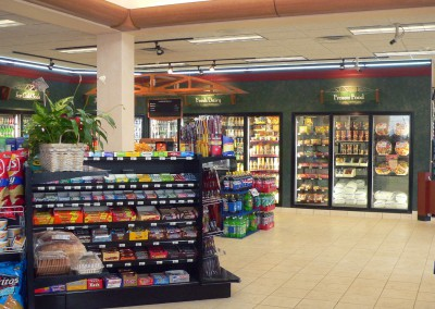 Dennis Mobil convenience store interior