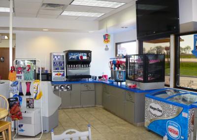 Milton Mobil convenience store interior